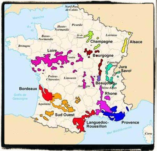 Cartina Vini Francia.Francia Enografia Francese